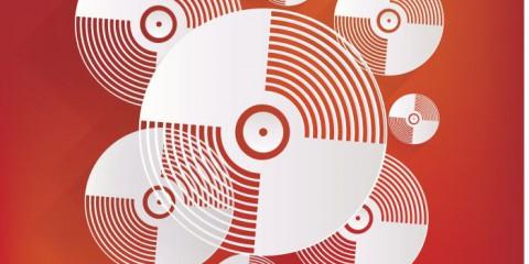 Music vinyl disk icon,flat design