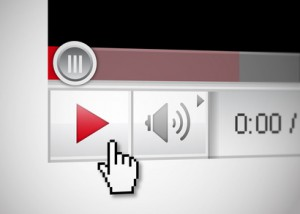 Play-Button eines Internet-Video-Players