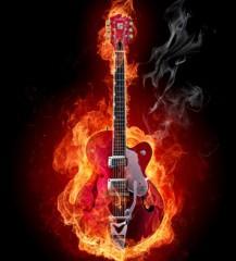 Fire guitar - Misha-Fotolia